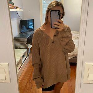 BANANA REPUBLIC Oversized knit brown sweater